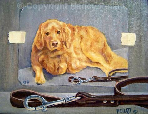 Golden Retriever Tromp L'Oeil
